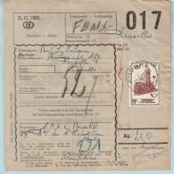 3 Spoorwegdoc Uit 1956 + 1957, Postafst. KNOKKE A + B + C - 1952-....