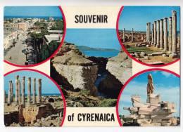 AFRICA LIBYA CYRENAICA 5 FOTOS BIG POSTCARD - Libyen