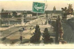 PARIS 7 - Le Pont Alexandre III Vers Les Invalides    -- LL 33 - Arrondissement: 07