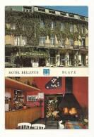 Cp, Commerce, Hotel Bellevue - Multi-Vues -  Blaye (33) - Commerce