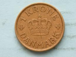 1925 HCN GJ - 1 KRONE / KM 824.1 ( Uncleaned - For Grade, Please See Photo ) ! - Danemark