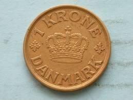 1940 N GJ - 1 KRONE / KM 824.2 ( Uncleaned - For Grade, Please See Photo ) ! - Denmark
