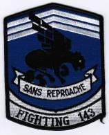 PATCH ECUSSON SANS REPROACHE FIGHTING 143 - Aviation