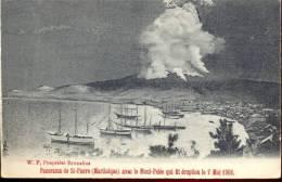 Pk  Martinique Panorama De St- Pierre Mont Pelée éruption 1902 - Cartes Postales
