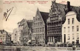 Philatélie -Gang - Quai Aux Herbes - Maison De L'étape - Maison Des Mesureurs - Maison Des Bâteliers - Serie 1 N. 124 - Gent