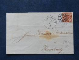 A2223    LETTRE    DANMARK  YV. NR. 8  4S. BRUN - Covers & Documents