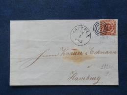 A2223    LETTRE    DANMARK  YV. NR. 8  4S. BRUN - 1851-63 (Frederik VII)