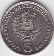 @Y@   VENEZUELA   5 Bolivaris 1977   A UNC   (C501) - Venezuela