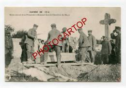Enterrement D'un PRISONNIER Allemand-BLAYE-Guerre14-18-Militaria-I WK-Soldats- - Blaye