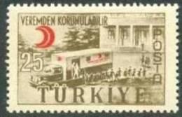 1957 TURKEY THE ANTI-TUBERCULOSIS FIGHT MNH ** - Disease