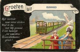 Groeten Uit Rijoord (coin Inf.droit!!!voir Scan)train Folklore! - Unclassified