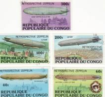 P - Rep. Popolare Del Congo - Retrospettiva Zeppelin - Zeppelins