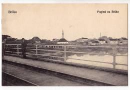 EUROPE BOSNIA BRCKO VIEW TO BRCKO FROM THE BRIDGE Nr. 5916 OLD POSTCARD - Bosnia And Herzegovina