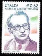 PIA - ITALIA - 2005 :  50° Della Morte Di Alcide De Gasperi - (SAS  2854) - 2001-10: Mint/hinged