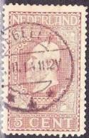 1913 Jubileumzegels 5 Cent Rood Lijntanding 11½ NVPH 92 B Met Afstempeling TEGELEN 4 - Poststempels/ Marcofilie