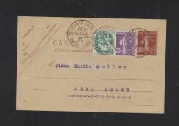 Carte Postale 1925  A Gera Allemagne - Biglietto Postale
