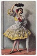 DANCE THE SPANISH DANCER J.S.C. Nr. 6027 OLD POSTCARD - Dance