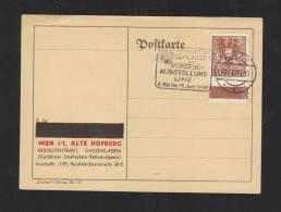 Österreich PK 1946 Sonderstempel Gewerbeausstellung Linz - 1945-60 Briefe U. Dokumente