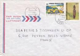 MARCOPHILIE, Lettre, CONGO, Affranchissement Composé,1982, Cachet SIBITI, FETICHE PLAN QUINQUENNAL /3228 - Kongo - Brazzaville