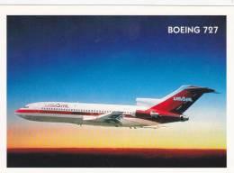 CPM PUBLICITE  AVION  BOEING 727 - Flugwesen