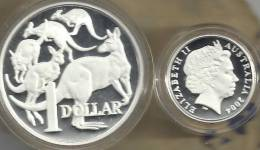 AUSTRALIA $1 KANGAROO ANIMAL FROM MASTERPIECES IN SILVER 2004 PROOF QEII READ DESCRIPTION CAREFULLY!! - Australia