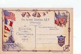 On Active Service A.E.F. - Oversea - Easter - Greetings - 1919 - Non Classés