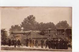 Carte Photo - Canon 320 - Pithiviers - Militaria