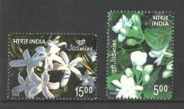 INDIA, 2008,Jasmine, Set 2 V,  Scented Stamps, Flower, Flowers, Plants, Orchids,  MNH, (**) - India