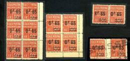 Kleine Collection Der Michel N° 47 Maury N°71 **, Dabei 1x 6er Block, 1x 4er Block, 1x Mit Zwischensteg, 5 Scans - Colis Postaux