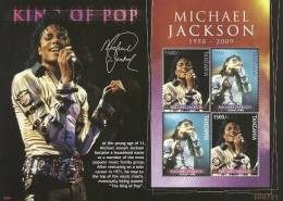 tan0909sh Tanzania 2009 King of POP Michael Jackson s/s