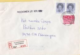 Nederland - Aangetekend/Recommandé Brief Vertrek Vlaardingen - Aantekenstrookje Vlaardingen Floris De Vijfdelaan - Poststempels/ Marcofilie