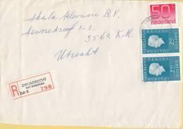 Nederland - Aangetekend/Recommandé Brief Vertrek Zwijndrecht - Aantekenstrookje Zwijndrecht Kort Ambachtlaan - Poststempel