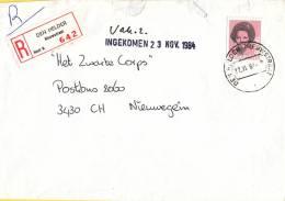 Nederland - Aangetekend/Recommandé Brief Vertrek Den Helder - Aantekenstrookje Den Helder Nieuwstraat - Poststempel