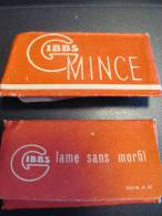 Gibbs/Mince/2 Lames /Lame Sans Morfil/vers 1950     PARF47 - Razor Blades