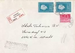 Nederland - Aangetekend/Recommandé Brief Vertrek Zoetermeer- Aantekenstrookje Rijswijk Huis Te Landelaan - Poststempel