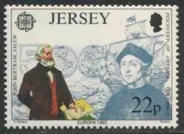 Jersey 1992 Mi 574 ** John Bertram (1796-1882) Ship Owner / Amerikanischer Kaufmann, Geboren Auf Jersey + Columbus - Christoffel Columbus