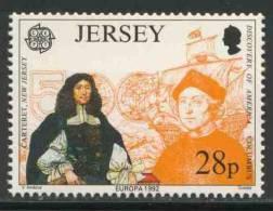 Jersey 1992 Mi 575 ** George Carteret (1610-1680) Founder Of New Jersey /geboren Auf Jersey + Columbus - Christoffel Columbus