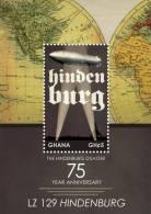 gha1204ss Ghana 2012 LZ 129 Hindenburg Zeppelin s/s