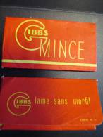Gibbs/Mince/2 Lames /Lame Sans Morfil/vers 1950     PARF48 - Razor Blades