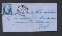 PUY DE DOME PIONSAT Tad Type 15 Du 21 Septembre 1857 + PC Sur N° 14 TTB Ind 9 - Marcophilie (Lettres)