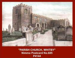 "P4144  ""PARISH CHURCH, WHITBY""  (1910's. Colour Photogravure Postcard) - Whitby"
