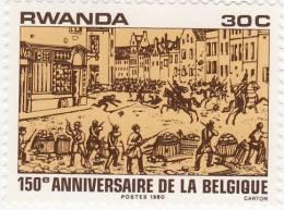 P - 1980 Rwanda - 150° Ann.del Belgio - Rwanda