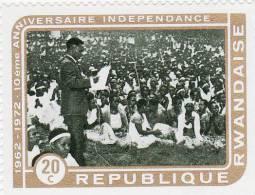 P - 1972 Rwanda - 10° Ann. Dell´Indipendenza - Rwanda