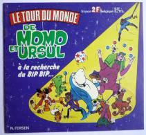 RARE ALBUM PRODIFU 1977 LE TOUR DU MONDE DE MOMO & URSUL - contient 2 images - pas Panini