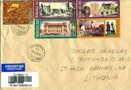 ROMANIA 2008 COVER POST STAMPS BUCURESTI - Poste
