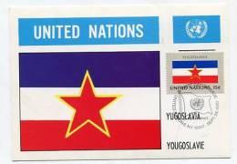 UNITED NATIONS - AK143742 Yugoslavia - Postcard + Stamp - Cartes Postales
