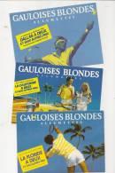 CPM Lot 3 Carte Pub Gauloises Blondes Allumettes Tennis Neuves TBE - Tenis