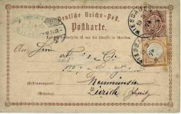 1874 Brustschuld Auslandspostkarte Aus Wiesbaden In Die Schweiz - Deutschland