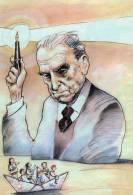 [DC1274] CARTOLINEA - NORBERTO BOBBIO - FILOSOFO TORINESE (1909-2009)-CENTENARIO DELLA NASCITA - RITRATTO UMBERTO GRATI - Filosofia & Pensatori