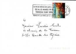 LSI 2769 Croix Rouge Vie De Chateau 13/14/15 Mars 92 Torigni/Vire Donville Barres De Tri - Marcophilie (Lettres)